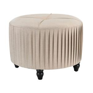23 Inch Pleated Ottoman