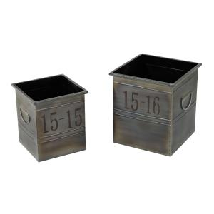 12 Inch Industrial Planter (Set of 2)