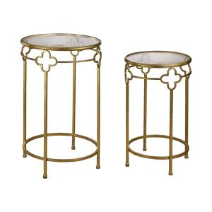 "28"" Quatrefoil Stacking Table (Set of 2)"