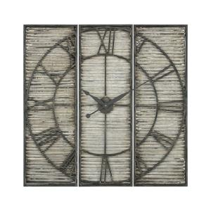 "Tammany Square Triptych - 32"" Wall Clock"