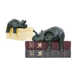 Sprawling Elephants - Decorative Figurine - Set of 2