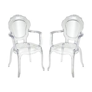 "Vie En Rose - 38.19"" Armchair (Set of 2)"