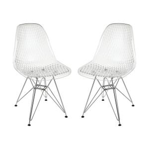 Invisible Jette - 31.89 Inch Chair (Set of 2)