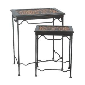 Stacking Leopard Side Tables - Set of 2