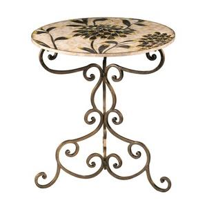 F-Floral - 30 Inch Side Table