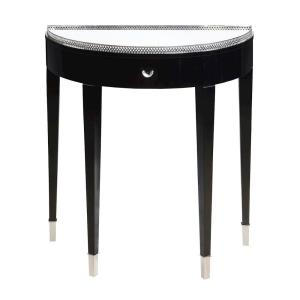 "Black Tie - 30.8"" Demilune Hall Table"