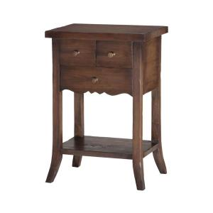 22 Inch 3-Drawer East Hampton Side Table