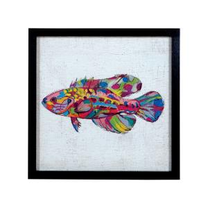 25.8 Inch Rainbow Fish Wall Art