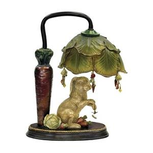Rabbit Under Leaf - One Light Table Lamp