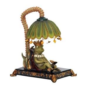 Sleeping King Frog - One Light Table Lamp