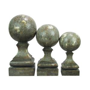 Sphere Pediment - Finial - Set of 3