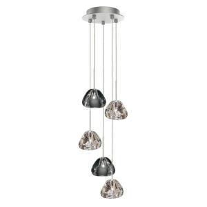 Blob II - 7.5 Inch 10W 5 LED Small Round Chandelier