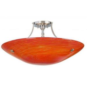 Neptune Grande - Three Light Medium Base Semi-Flush Mount