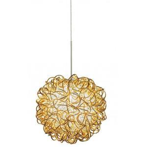 Kurly Sphere - One Light GY6.35 Xenon Monopoint Pendant