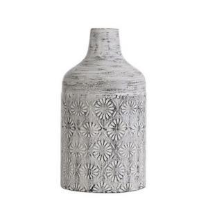 "Winnifield - 14"" Decorative Floral Cylinder Metal Vase"
