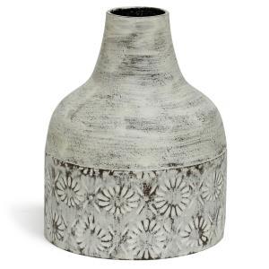 "Winnifield - 10"" Decorative Floral Cylinder Metal Vase"
