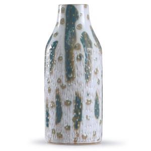 "Romani - 18"" Textured Glazed Ceramic Vase"