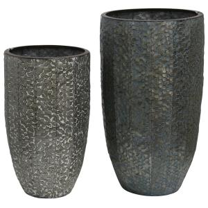 "Industrial Stamped - 11"" Vase (Set of 2)"