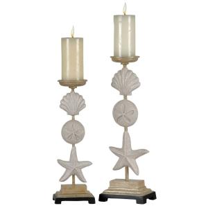 "Seaside - 20.5"" Candleholders (Set of 2)"
