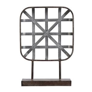 "16"" Square Cross-Hatched Table Sculpture"
