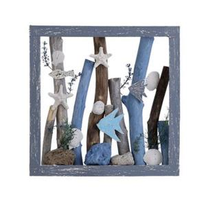 Sea Dive - 14 Inch Coastal Wooden Sculpture