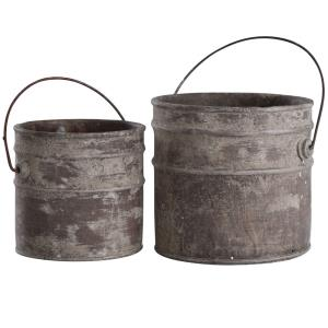 "Onley - 9"" Concrete Bucket (Set of 2)"