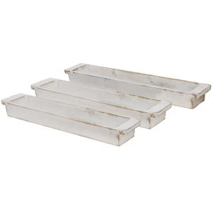 "32"" Wooden Tray (Set of 3)"