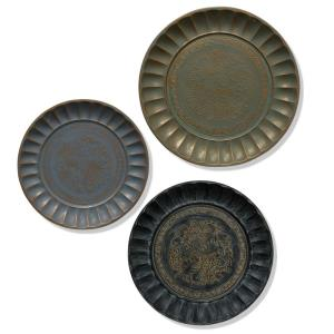 "Adornment - 21.93"" Metal Tray (Set of 3)"