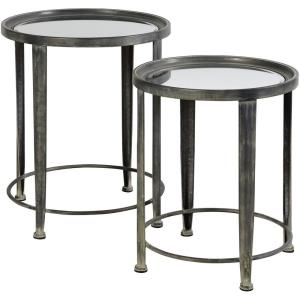 20.08 Inch Nesting Round Side Tables
