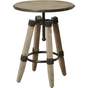 Hanley - 26 Inch Round Accent Table with Four Post Legs