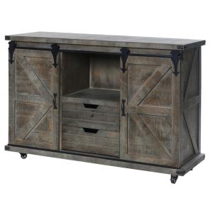 Presley - 47 Inch 2 Door/2 Drawer and Open Center Cabinet