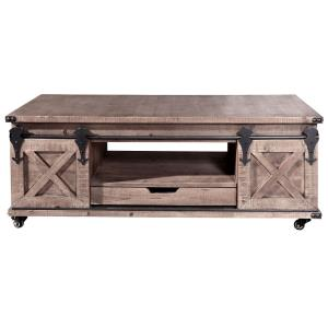 "Presley - 24"" 4 Door with Drawer Coffee Table"