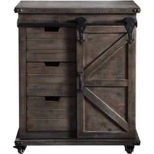 "Presley - 33"" 3 Drawer with Door Side Cabinet"