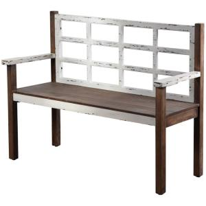 19.8 Inch Wooden Bench