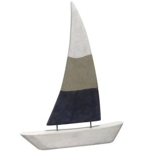 "Native Sail - 27"" Carved Sculpture"