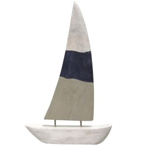 "Native Sail - 19"" Carved Sculpture"