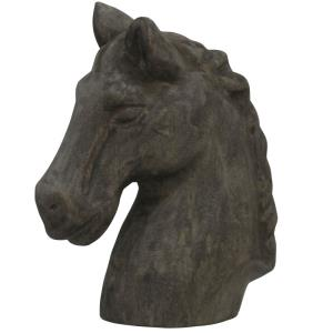 "Native Horse - 12"" Wood Carved Table Sculpture"