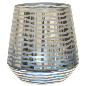 Grinded - 11 Inch Hurricane Glass Vase