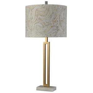 One Light Marble Gold Table Lamp