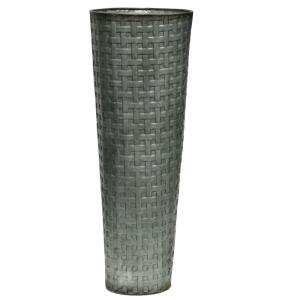 "Weave Patterned - 15.9"" Vase"