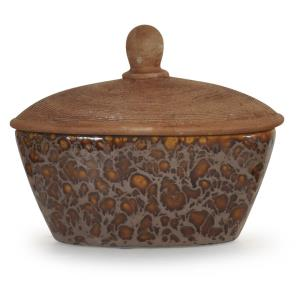 "Pepperfield - 10"" Textured Ceramic Box with Lid"