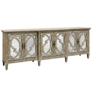 Naples - 97 Inch 6 Door Mirrored Front Cabinet