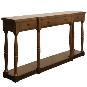 """Springfield - 34"""" 3 Drawer Wood Console Table"""