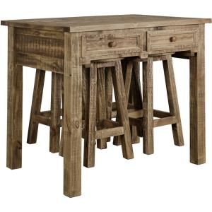 """42"""" Island Table with Dining Stool (Set of 5)"""