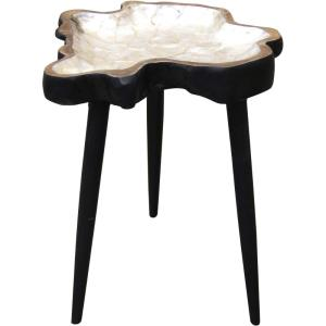 Constellation Star - 24 Inch Mirrored Top 4 Leg Chair Side Table