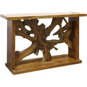 "Bennet - 52"" Solid Teak Root Console Table"
