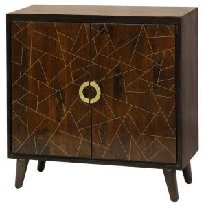"Abstract Geometric - 34"" 2 Door Cabinet"