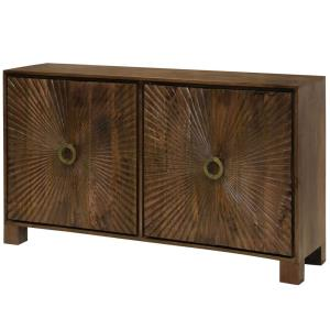 "Starburst Embossed - 64"" 4 Door Cabinet"