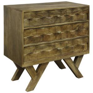 30 Inch Wood Threw Drawer Chest