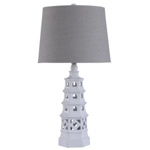 Pagoda - One Light Open Design Table Lamp